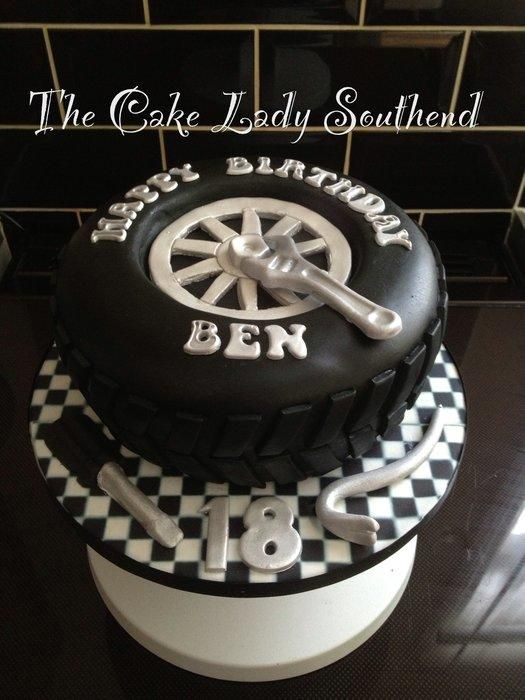 Tyre Cake Cake By Thecakeladysouthend Special Cakes Cup Cakes