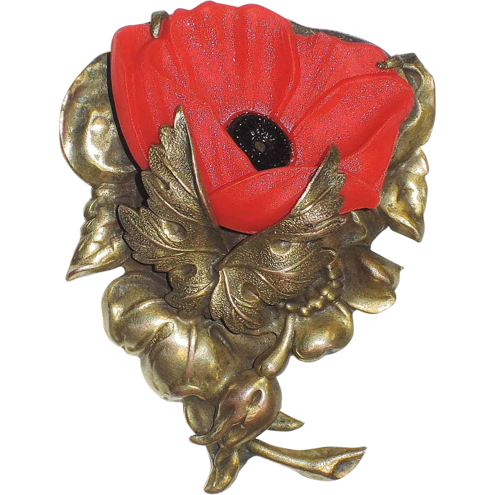 Remembrance Poppy Flower Dress Clip Art Deco 1930s Remember