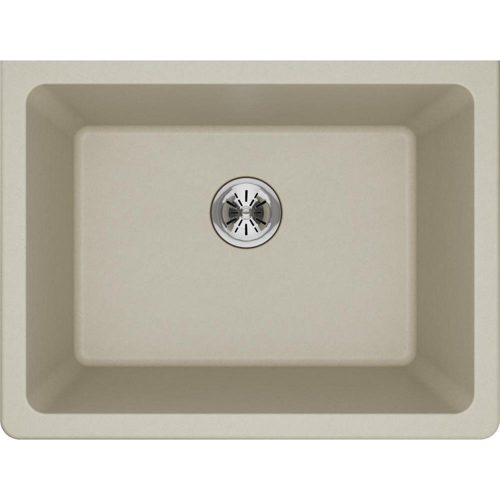 Elkay Quartz Classic Perfect Drain Undermount 25 In Laundry Sink