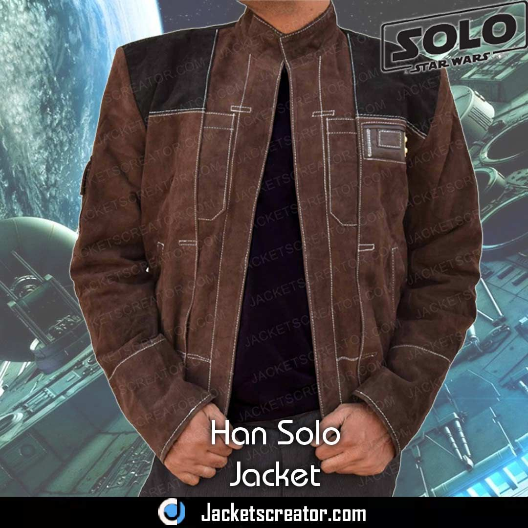 New Brown Suede A Star Wars Story Young Han Solo Jacket Jackets Creator Han Solo Jacket Jackets Brown Suede Jacket [ 1080 x 1080 Pixel ]