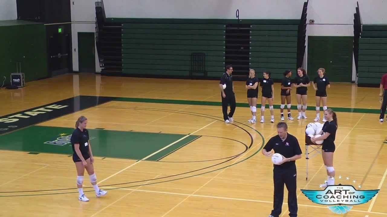 Art Of Coaching Volleyball Setting Portland Clinic Coaching Volleyball Volleyball Practice Volleyball Training