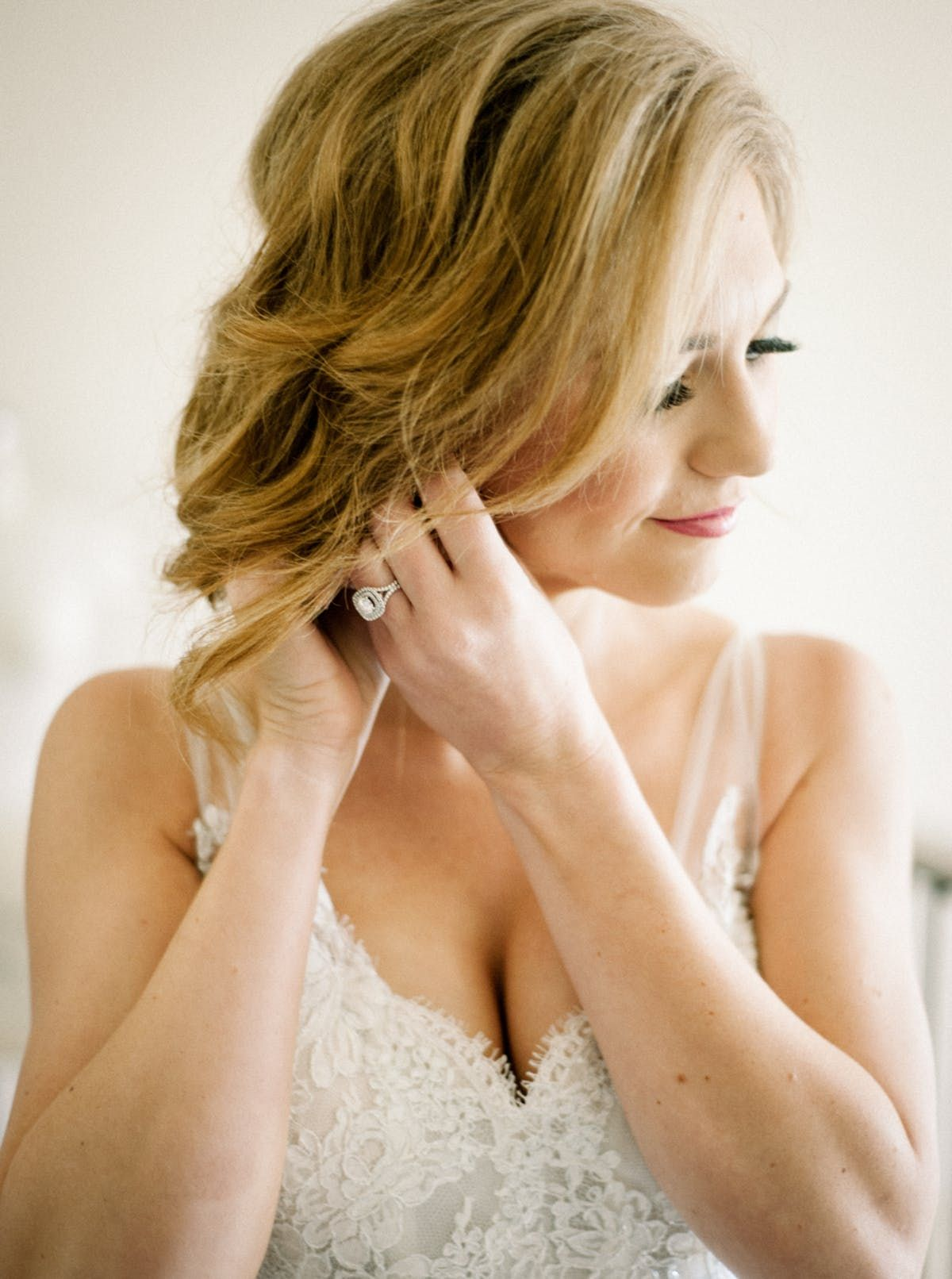 Traditional bluehued wedding in california bridal hairstyles