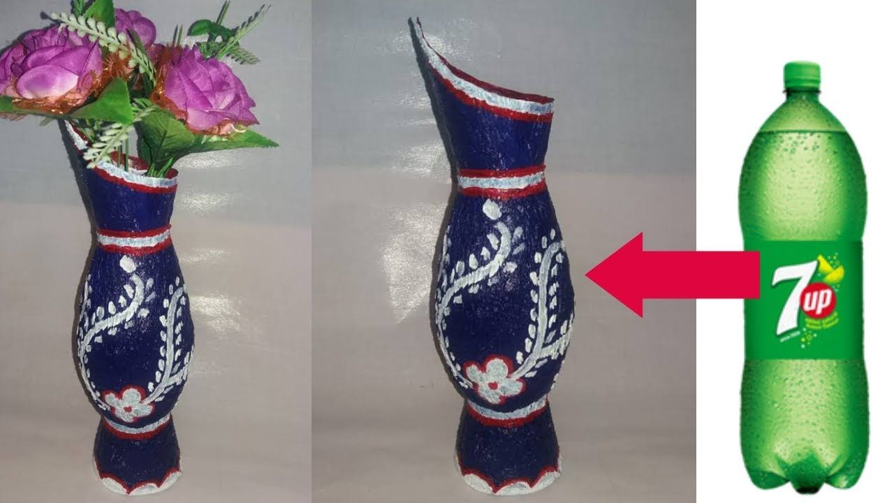 How To Make Flower Vase With Plastic Bottle Bottle Craft Ideas Dustu Pet Creaciones
