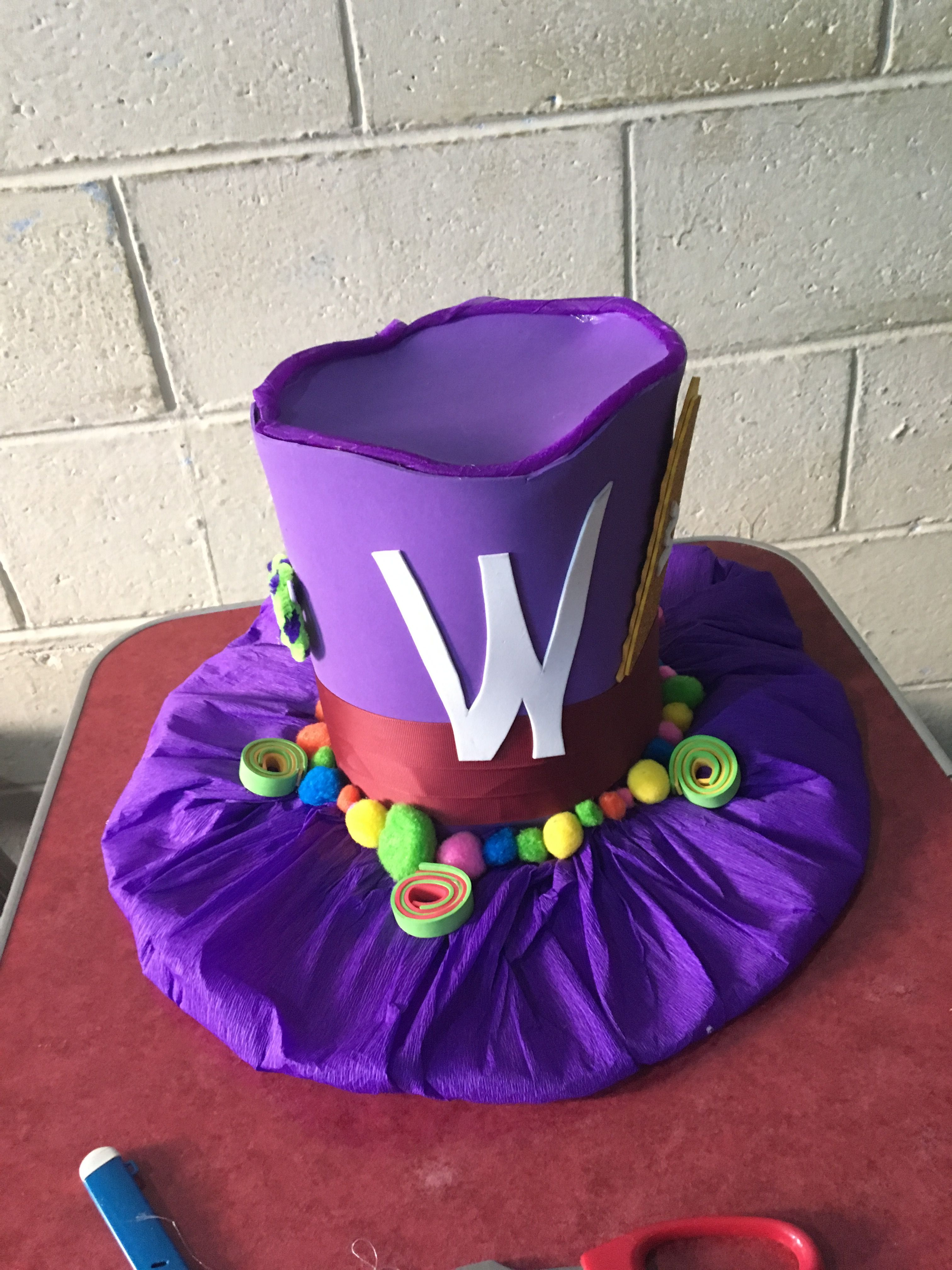 Willy Wonka sombrero | Disfraz | Pinterest