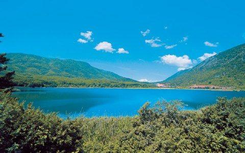Lake Zaravina near Kalpaki town Epirus region