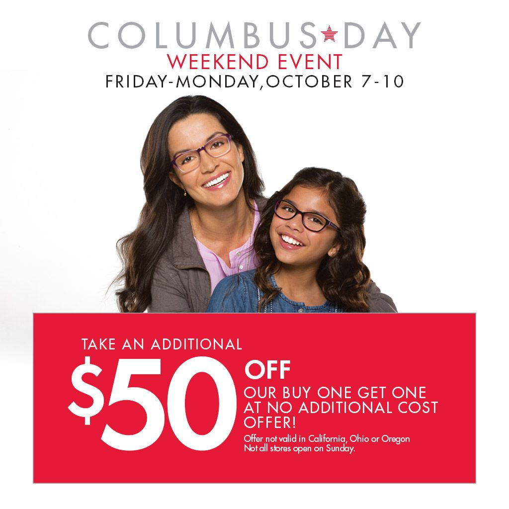 Can't decide between #KennethCole or #CalvinKlein frames? Why not both? Take $50 off our Buy One Get One at no additional cost event happening now. For coupon, go to www.visionworks.com/columbusBOGO Not valid in California, Ohio or Oregon. Restrictions Apply.