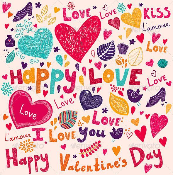 GraphicRiver Valentine Greeting Card 3983496  Valentine Design
