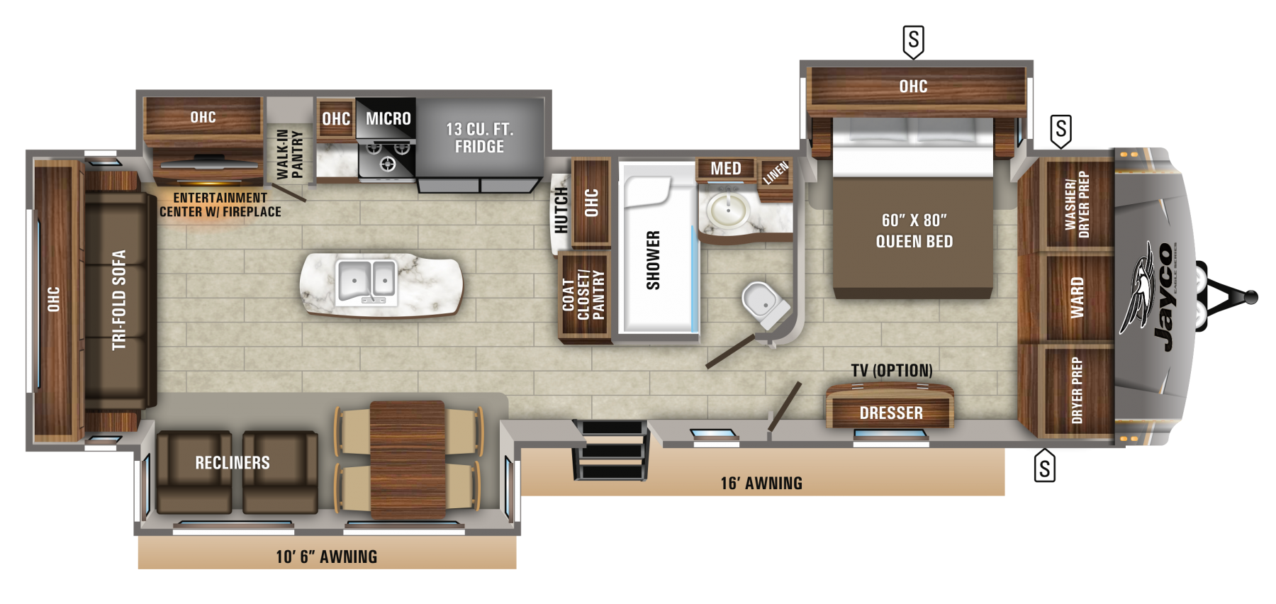 2020 Eagle Travel Trailers 330RSTS Jayco, Inc. in 2020