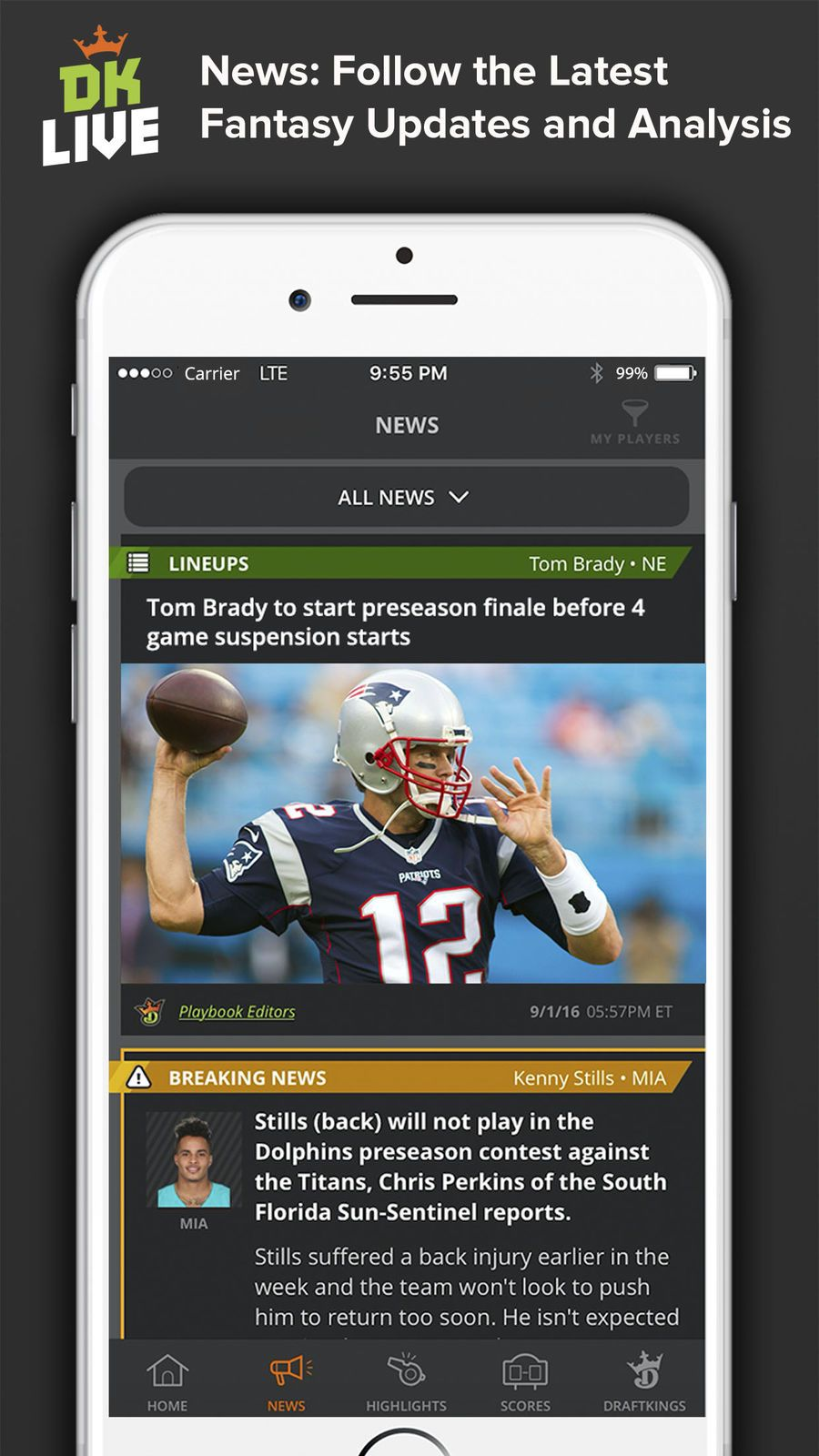 DK Live iosEntertainmentappapps Sports news, All