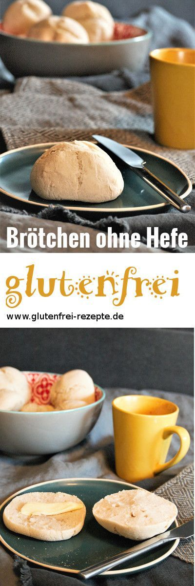 Brötchen ohne Hefe glutenfrei backen - einfaches Rezept #glutenfreebreakfasts