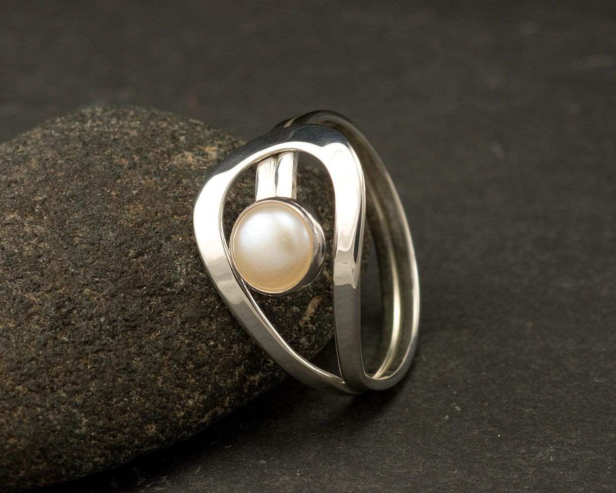 pearls by artulia pin ring pearl gemstone silver sterling