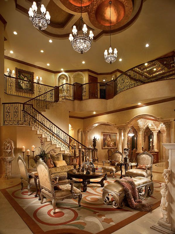 High ceiling rooms and decorating ideas for them stair for Living room with staircase decoration