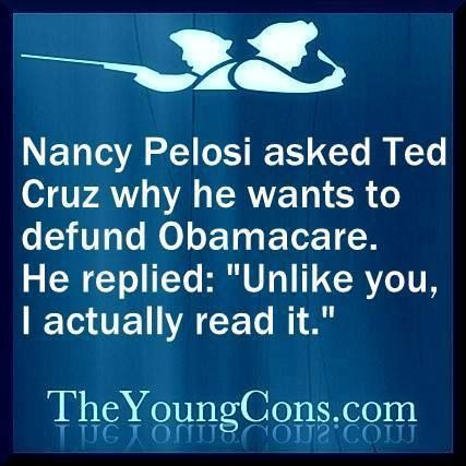 Ohhhhh SNAP!  Cruz is fearless. Ask someone who doesn't get health care with their jobs!!