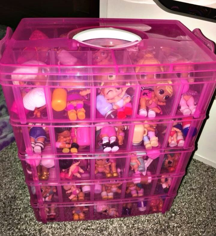 Great Way To Store All Your Lol Surprise Dolls Stackable Pink