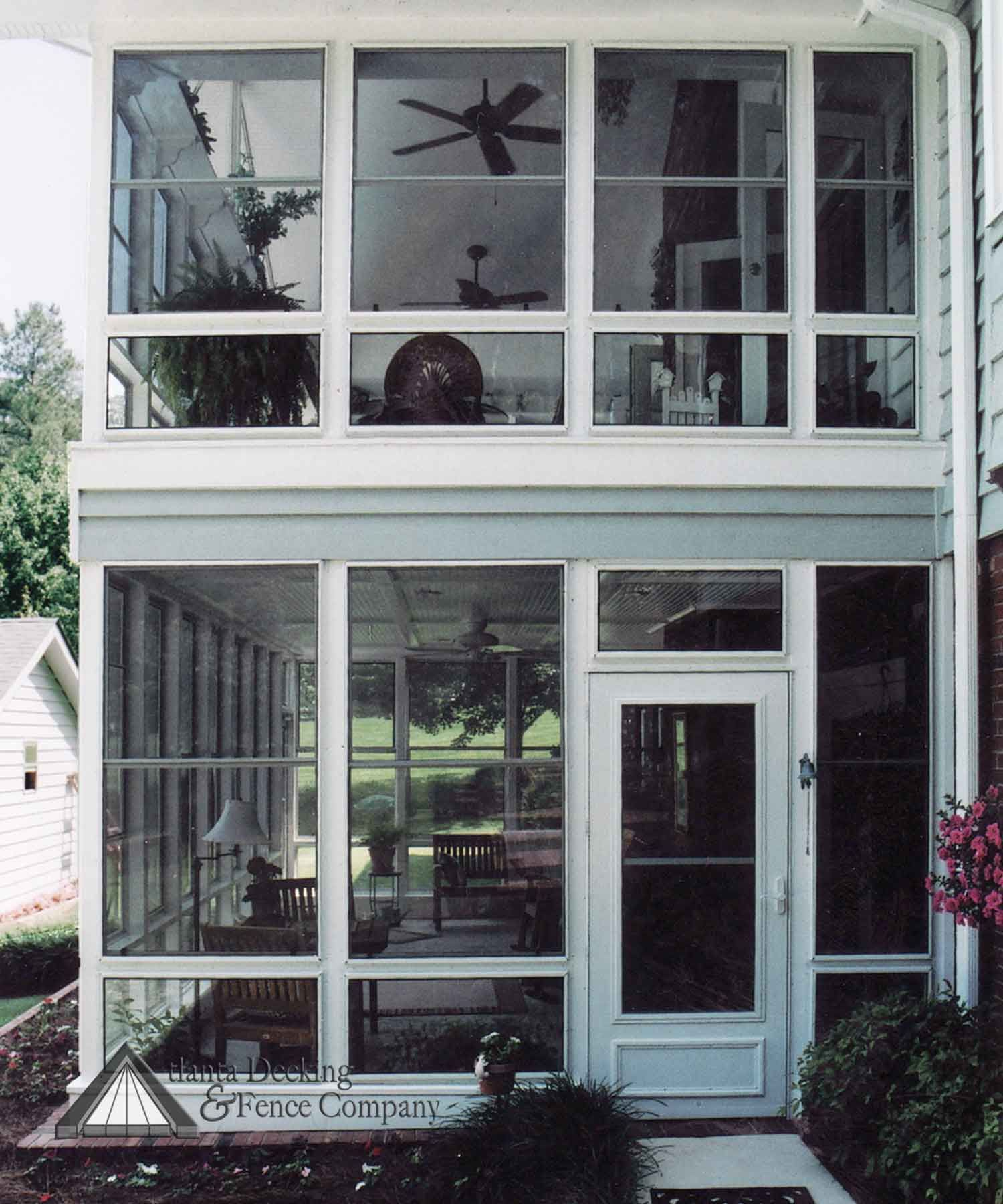 Two Story Windowed Porch