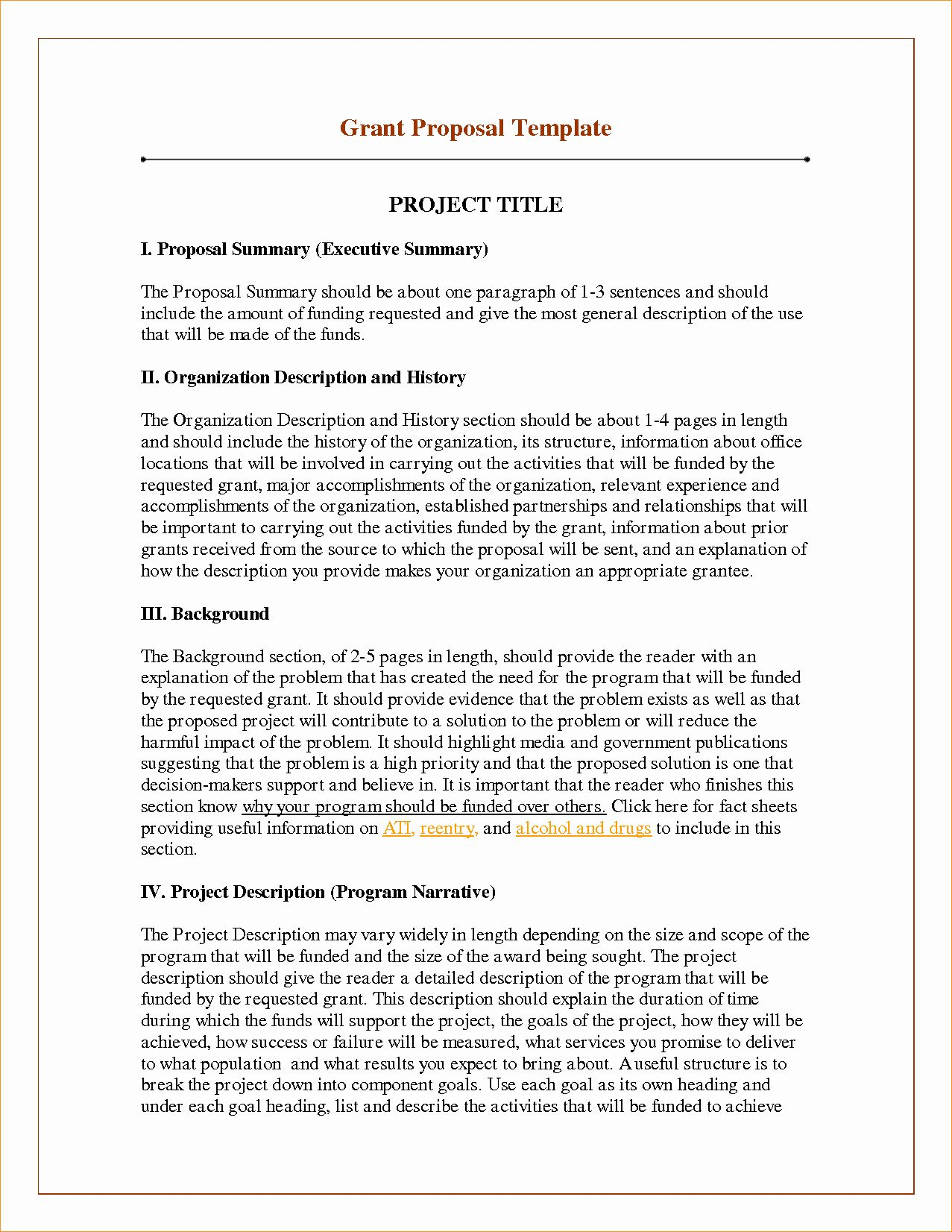 Grant Proposal Template Word In 2020 Project Proposal Template
