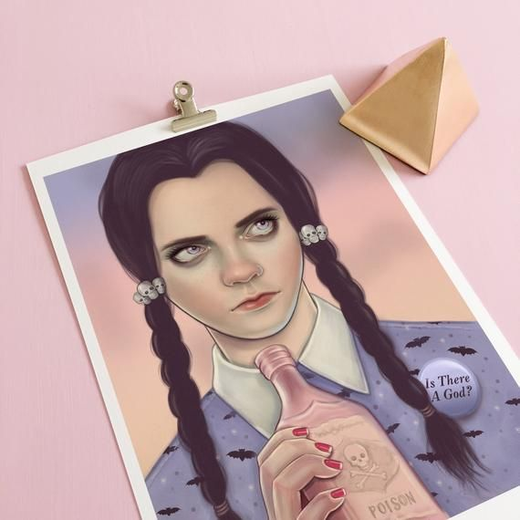 Wednesday Addams Family Movie Art Print horror movie posters pastel gothic home decor