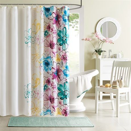 Olivia Shower Curtain With Images Floral Shower Curtains