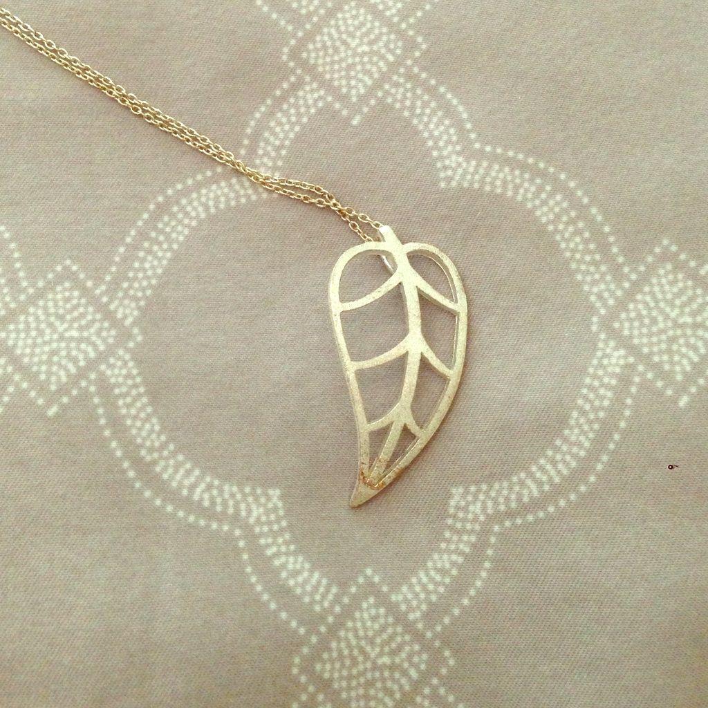 Sterling Silver 925 Necklace- Leaf