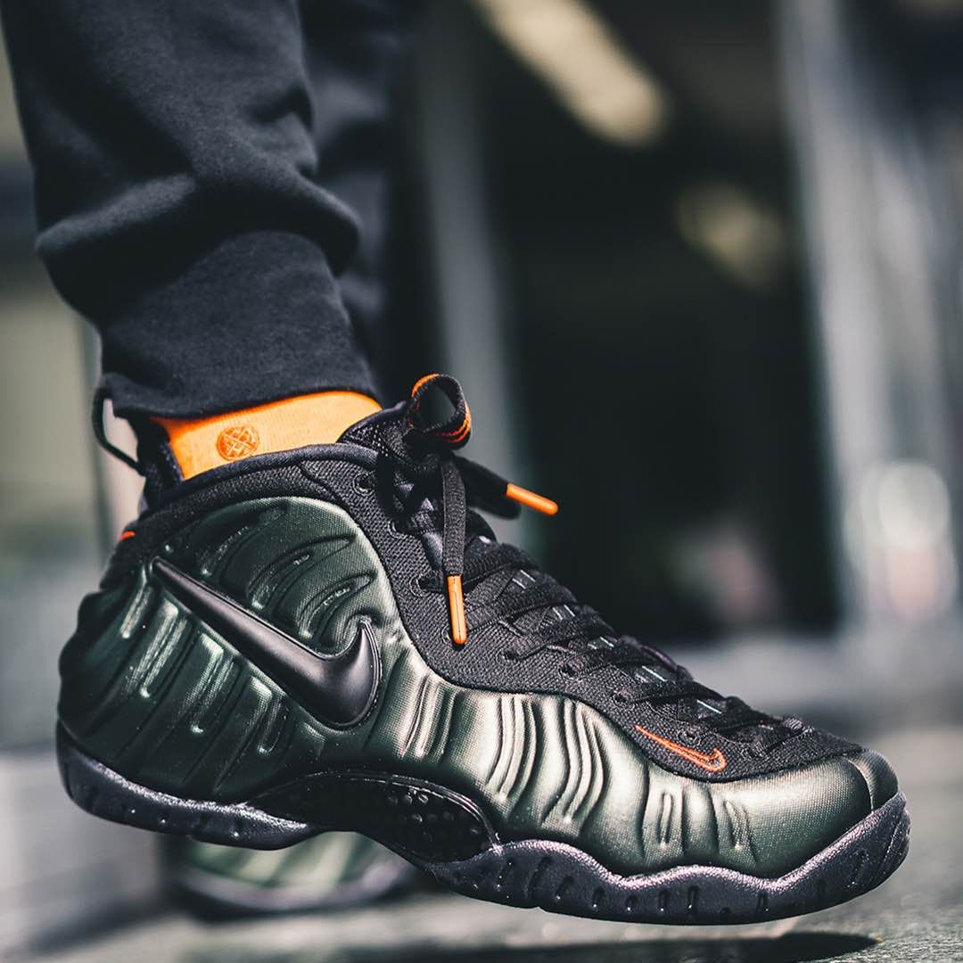 best service 8fa33 68ec5 Nike Air Foamposite Pro Sequoia / Black | Basketball Kicks ...