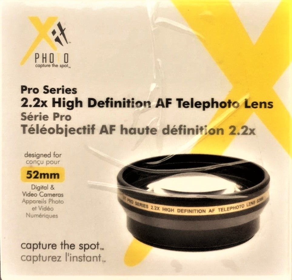 Xit Photo Pro Series 52mm Camera Lens High Definition 22x Telephoto