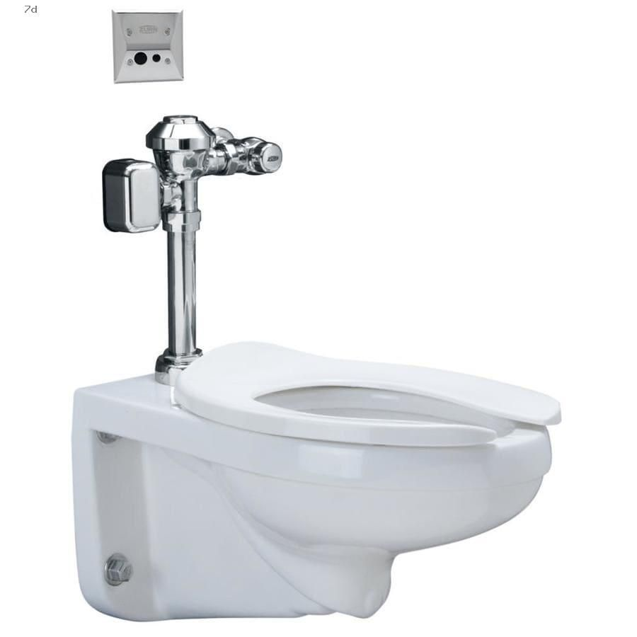 Shop Toilets Zurn White Watersense Elongated Custom Height Wall Hung Vitreous China Toilet Rough In Size Ada Compliant In 2020 Wall Hung Toilet Water Sense Toilet Wall