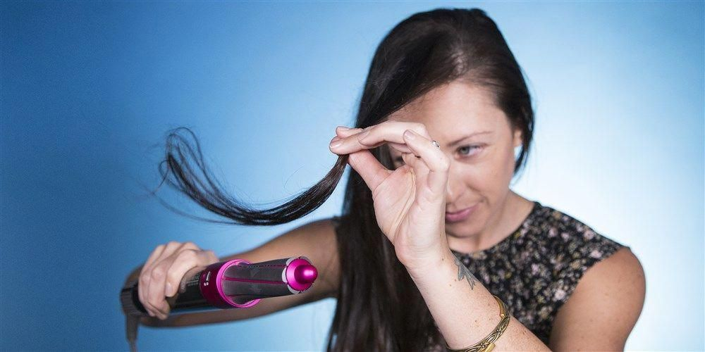 how to use dyson airwrap hair dryer