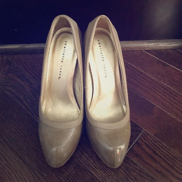 Charlotte Russe Taupe Heels Charlotte Russe Taupe Heels, used once Charlotte Russe Shoes Heels