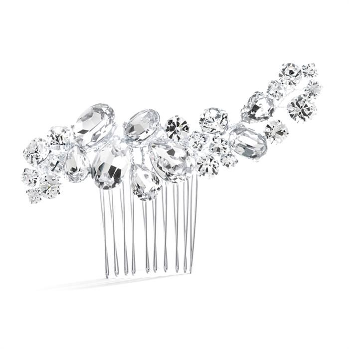 Wedding Pageant Comb Bold Crystal Cluster
