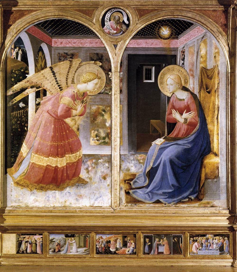 Beato Angelico - Annunciazione; 1430, Museo Basilica Santa Maria delle Grazie,   San Giovanni Valdarno