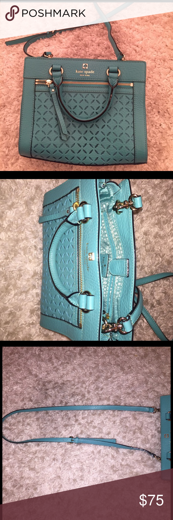 Crossbody Kate Spade purse Turquoise detailed cross body kate spade Bags Crossbody Bags