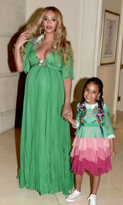 The mother-daughter duo coordinated in Gucci ensembles.