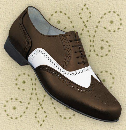 61e9c26beafd Aris Allen Men s 1930s Brown and White Spectator Wingtip Dance Shoe ...