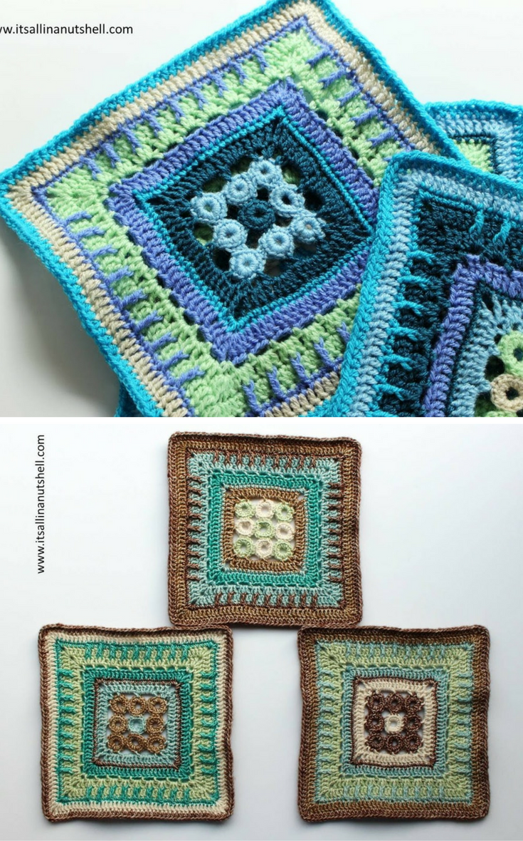 Nuts about Squares CAL – Week 4 | Ganchillo y Pulseras