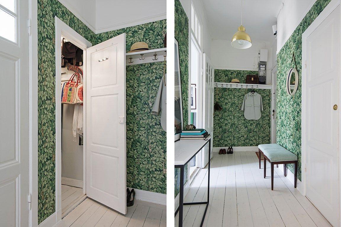 vacker hall med ingång till djup klädkammare | home | pinterest