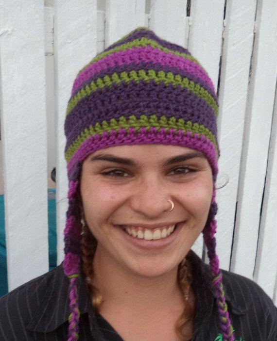 Ear Flap Beanie Crochet Pattern Easy Winter Hat Project For Teens