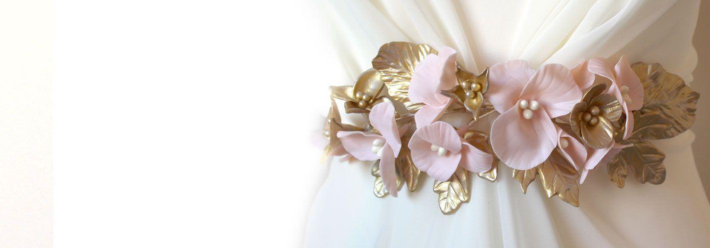 cinturón para vestido de novia