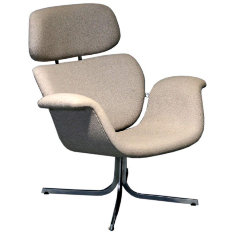 Pierre Paulin model 545 for Artifort Holland | Tulip chair, Grey ...
