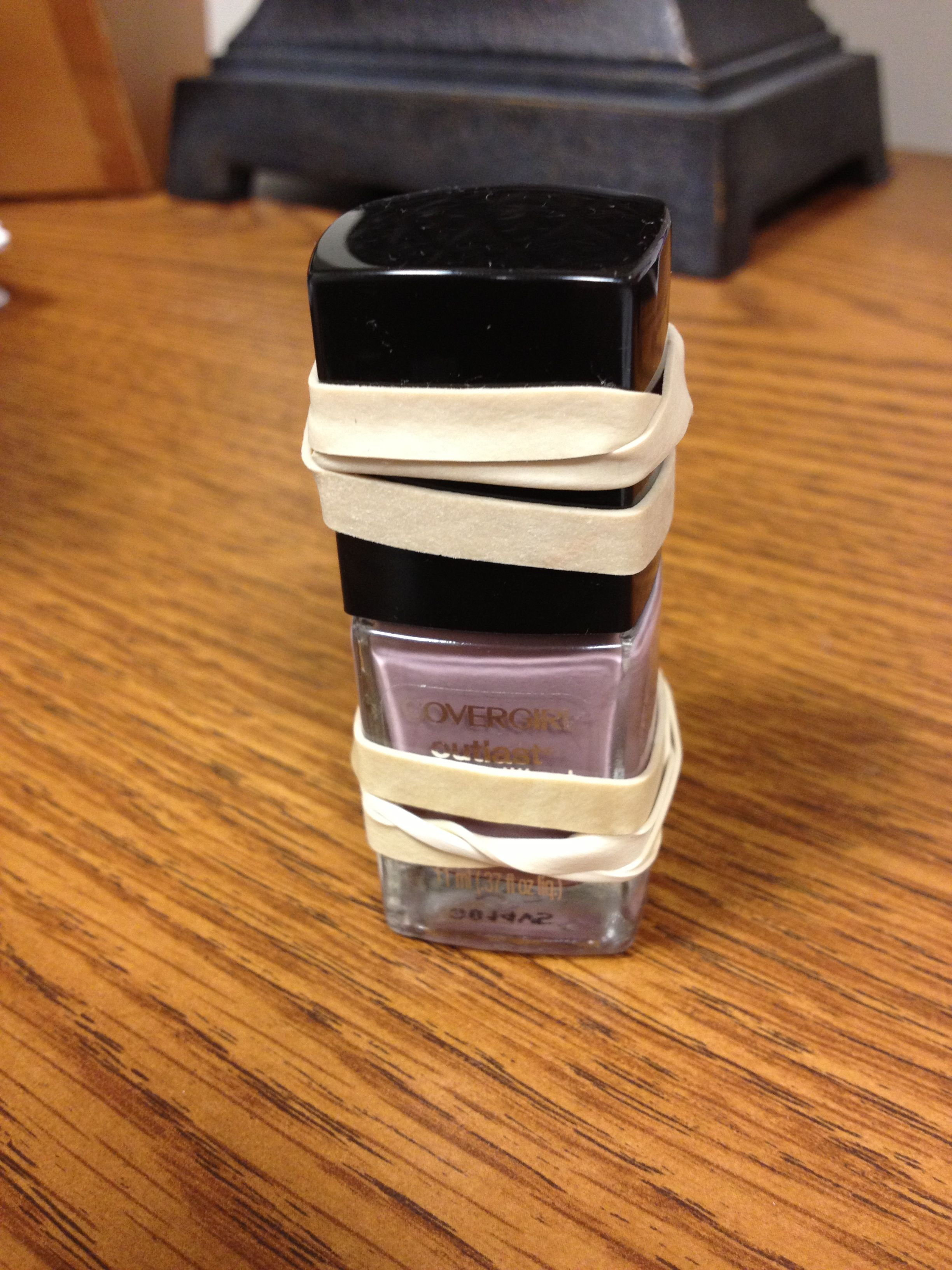 For those tricky polishes that don't want to open...put a rubber band around it for grip! Works like a charm!