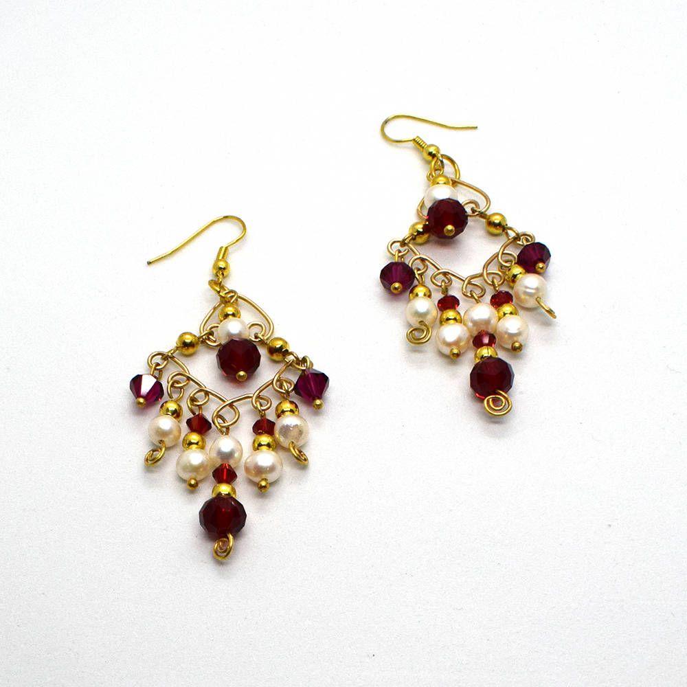 Gold chandelier earrings christmas earrings crystal chandelier gold chandelier earrings christmas earrings crystal chandelier earrings red chandelier earrings pearl arubaitofo Choice Image