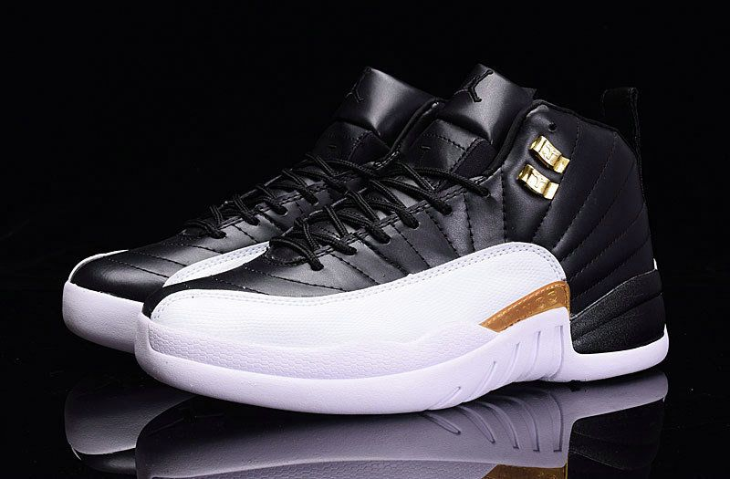huge discount 9b7f8 510fd Factory Authentic Air Jordan 12 XII Taxi Black White Size ...