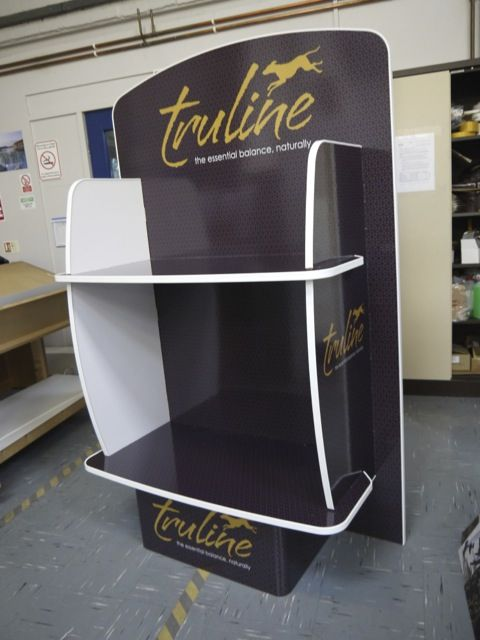 Exhibition Stand Weight : Pet food display stand made with reboard light weight