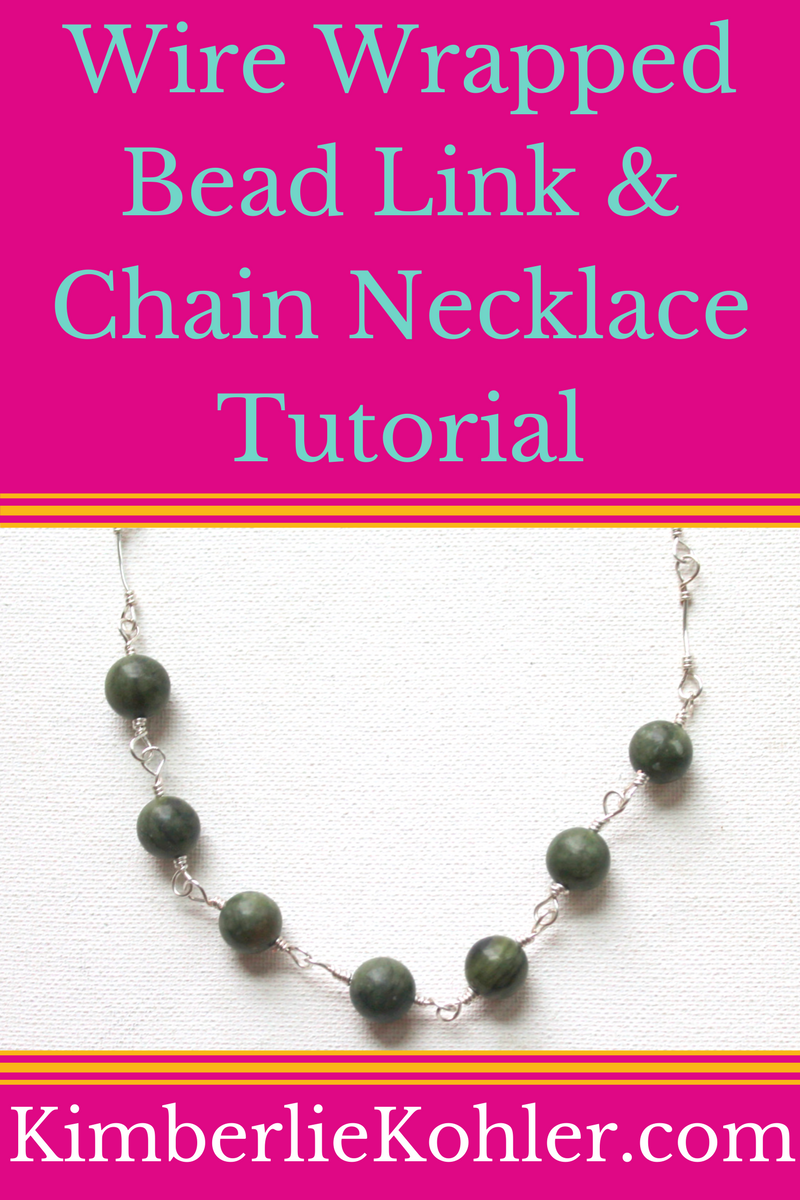 Wire Wrapped Bead Link Necklace Tutorial | *JAN\'S JEWELRY 101 ...