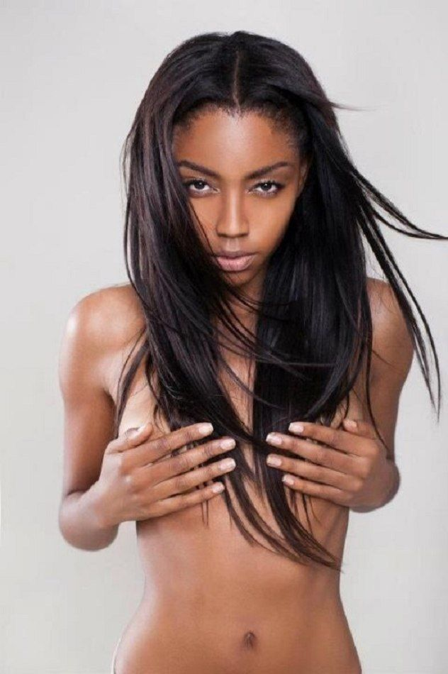 Skinny ebony black girls nude
