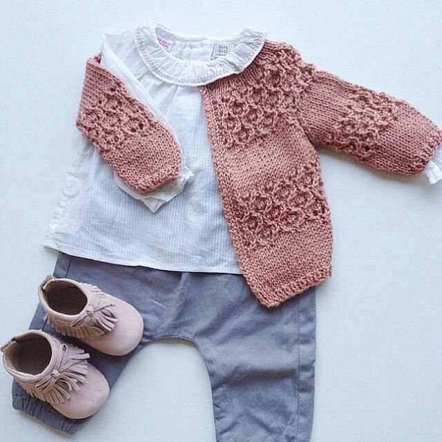 Baby girl fall outfit. Love the moccs and the adorable sweater!