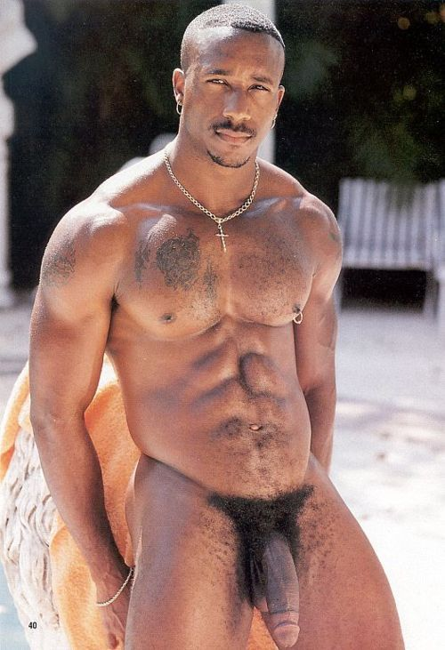 Hairy black nude men