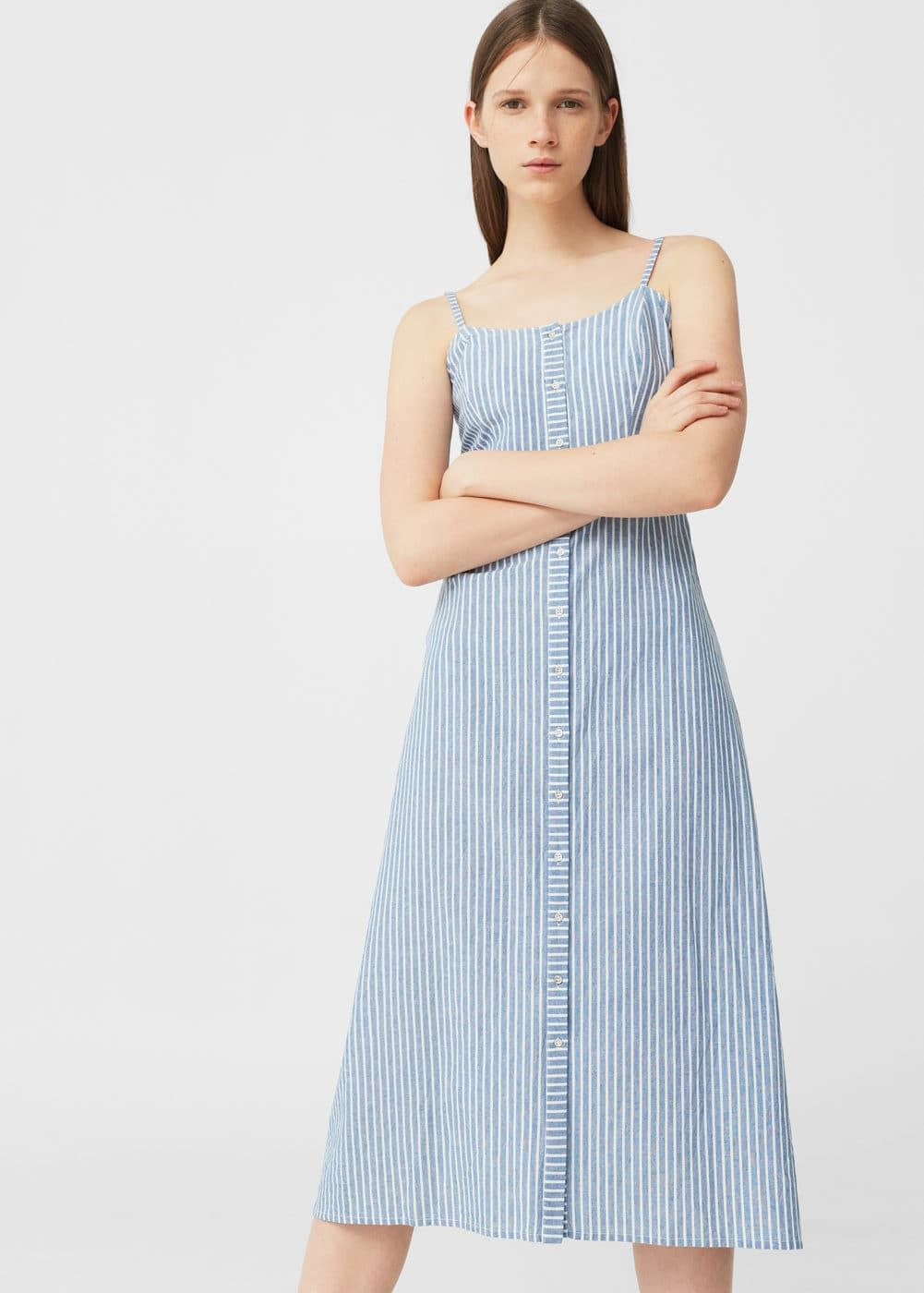 53cd87089d Vestido algodón rayas - Mujer in 2019