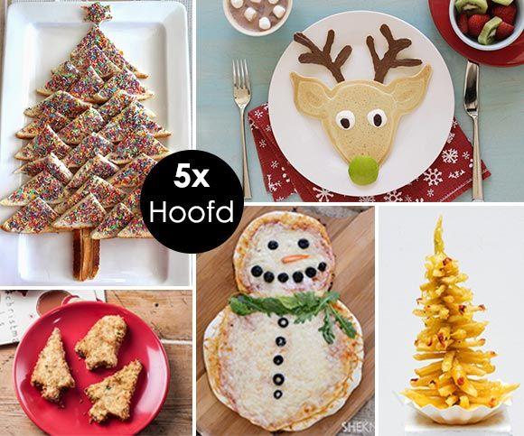 Vrolijke kerstrecepten voor kinderen van voor hoofd tot