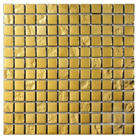 Luxury Gold 1x1 Square Pattern Glass And Stone Blend Mosaic Tile Pattern Glass Gold Tile Mosaic Tiles