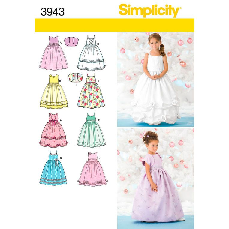Simplicity Child Special Occasion Dresses Pattern